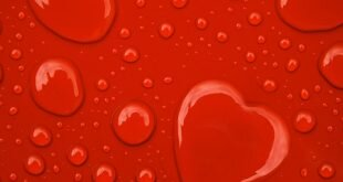 Red Heart Water Drops Art Wallpapers