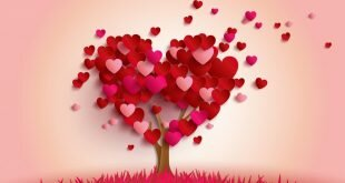 Red Hearts Love Tree Wallpapers