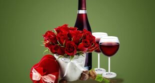 Rose Wine Gift Romantic Wallpapers