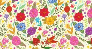 Vector Flower Pattern Wallpaper