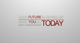Your Future is Created Today Wallpaper